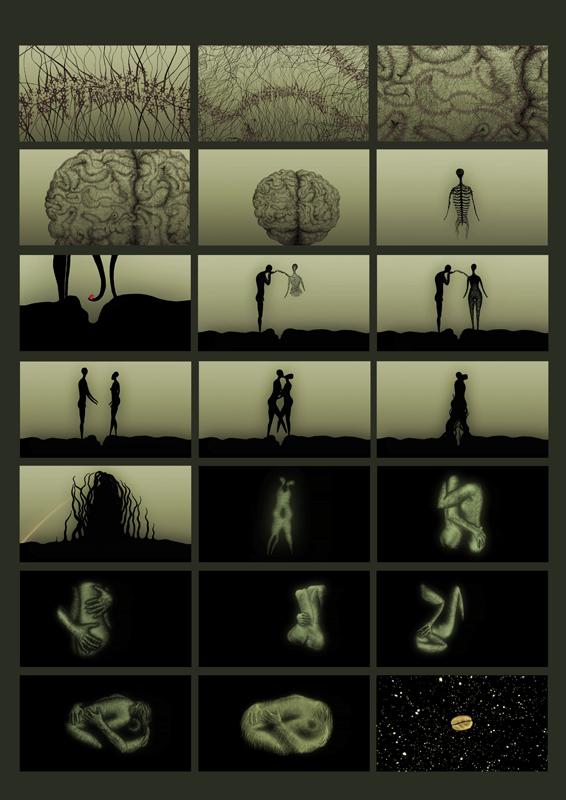 Animated music video - On the knees, stills 2 , 2009