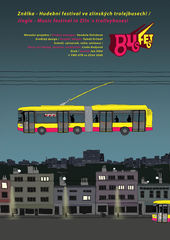 BusFest 2008, animated advertisment, poster