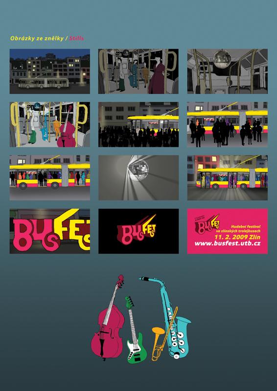 BusFest 2008, animated advertisment, stills