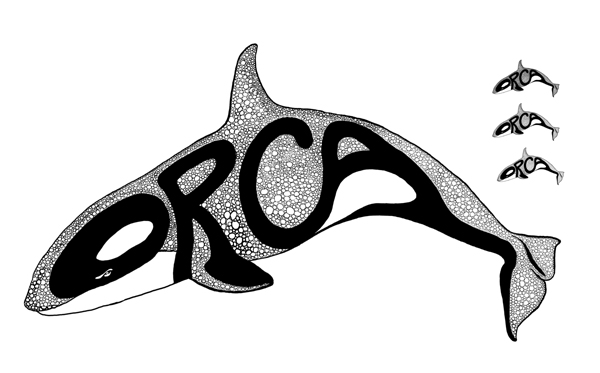 Logo Orca catering, digital painting