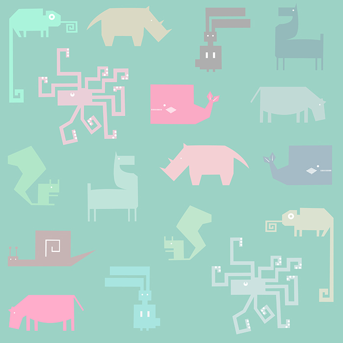 animals pattern pastel