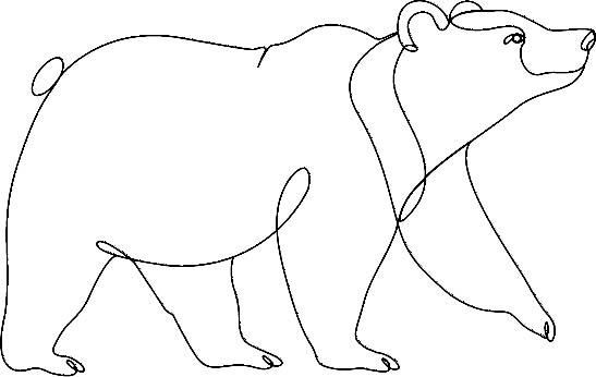 bear one line