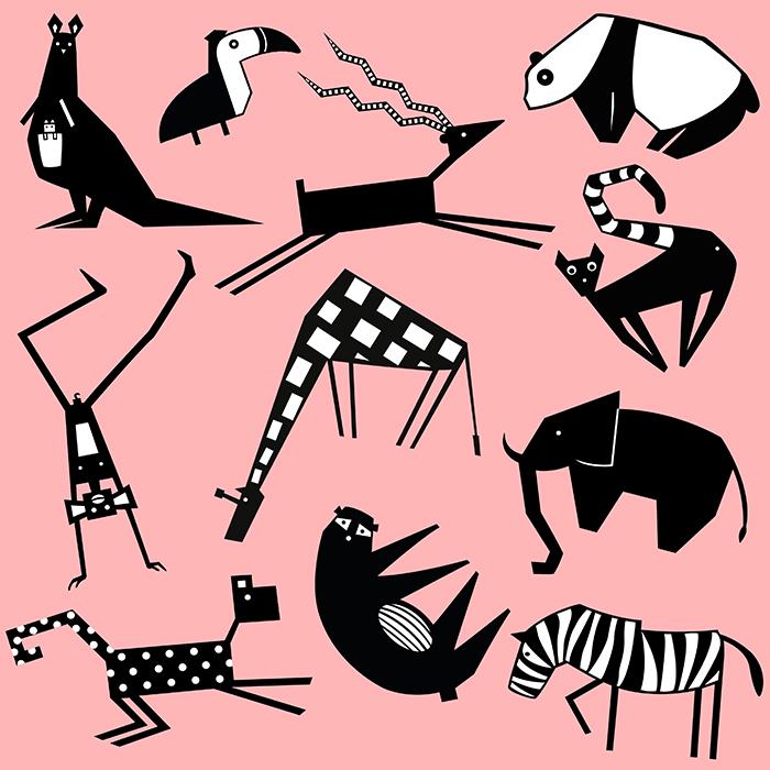 safari pattern pink