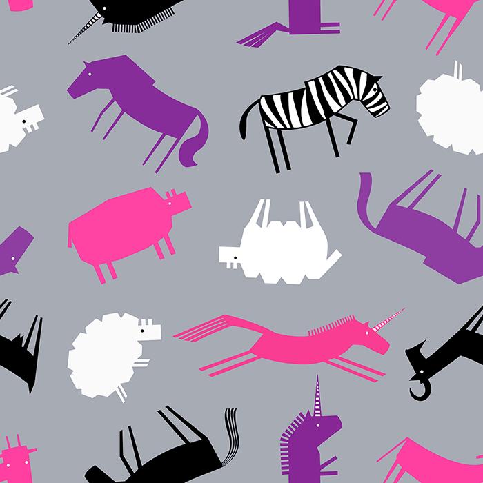 zebra unicorn pattern