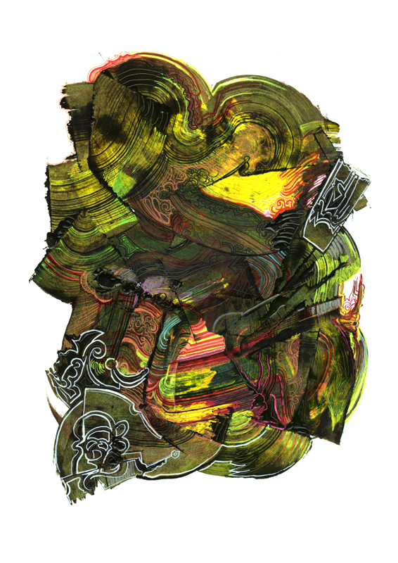 Abstract composition -  Healthy bile, 2012, 35x50 cm