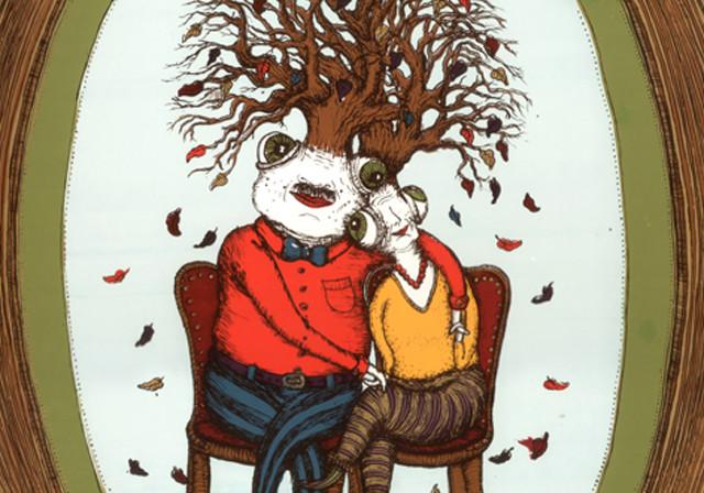 Autumn of life, Serigraph art print, 2011, 70×50 cm