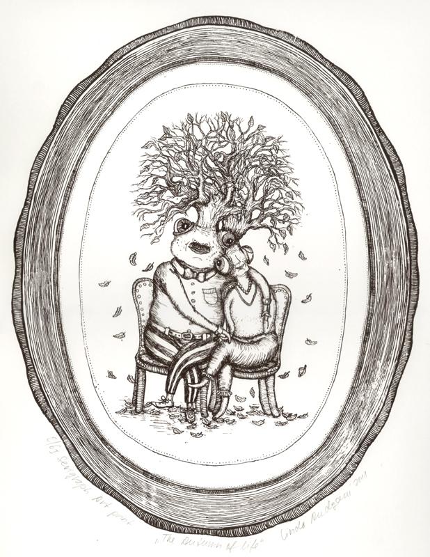 Autumn of life_2, Serigraph art print, 2011, 70x50 cm