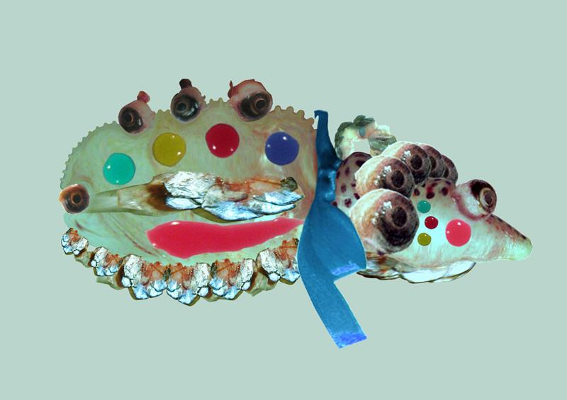 Hybrid creature - Harlequim , digital painting, 2009, 42x30 cm