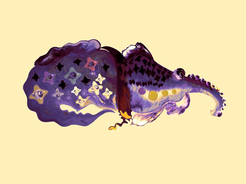 Hybrid creature - Violet star