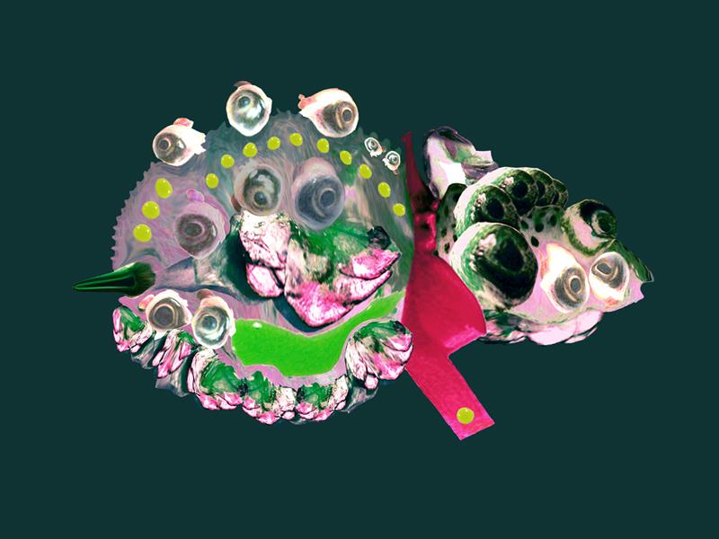 Hybrid creatures - Rosie, digital painting, 2009, 42x30 cm