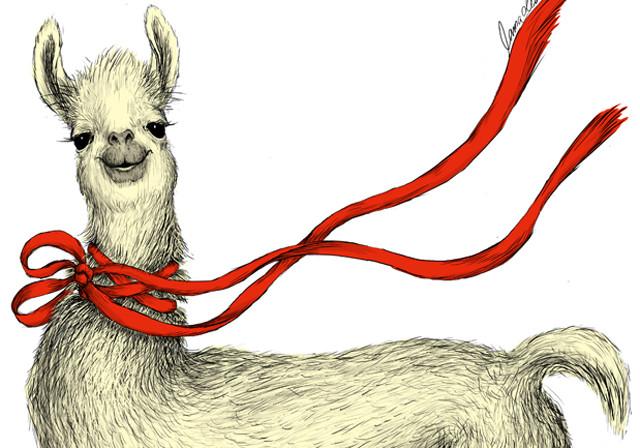 Llama Design, digital painting, 2012