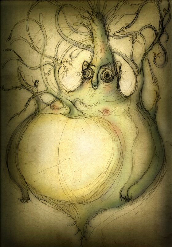 Mr. Turnip, digital painting, 2012, 42x30 cm