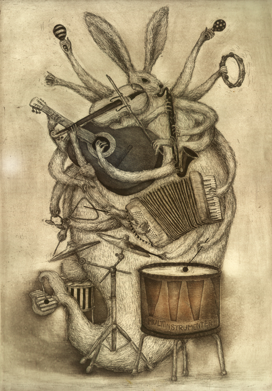 MultiInstrumenter_Etching with aquatint, 2011, 70x50 cm