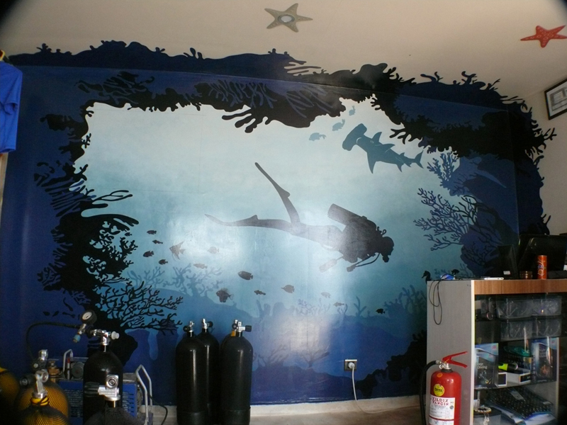 diving club_wall painting_4x2,5m