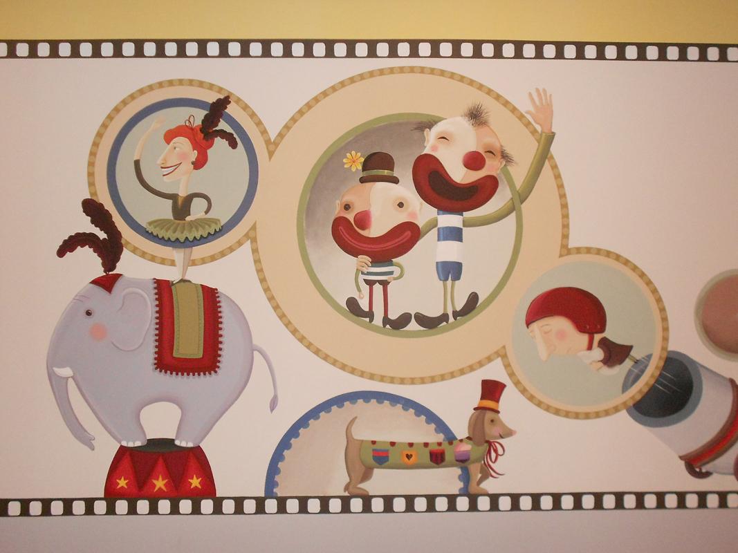 kids club_cinema room_wall painting 5x3m