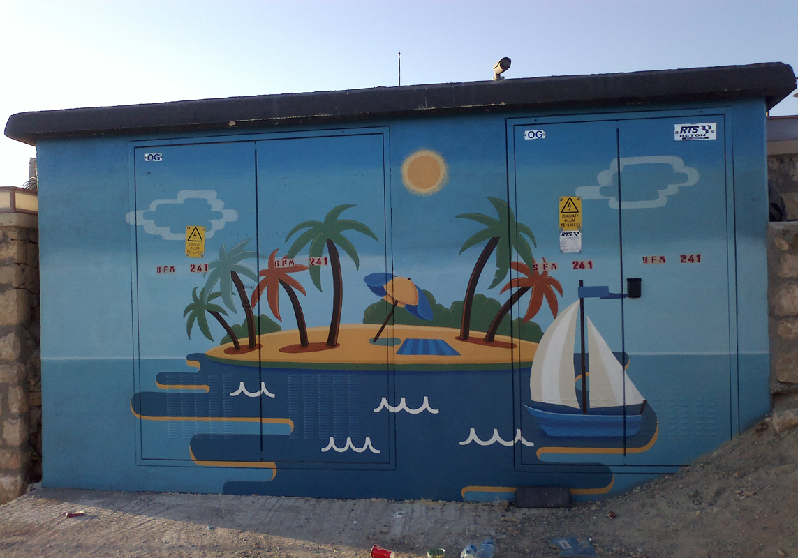 transformer room_wall painting_4x2m