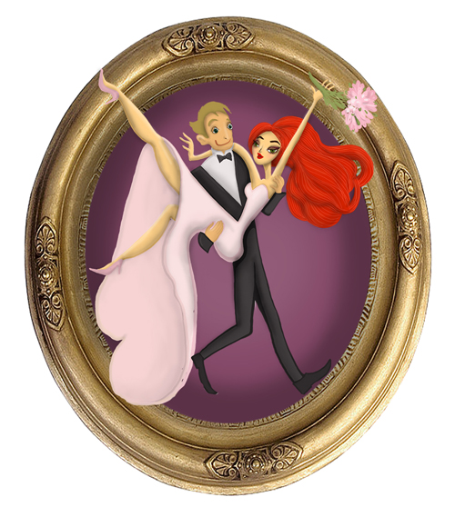 framed wedding