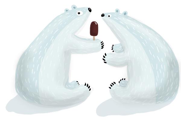 winter pleasures - bears