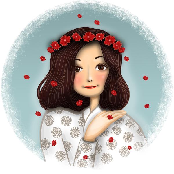 Herbal tea label - Moon tea 4 - menstruation