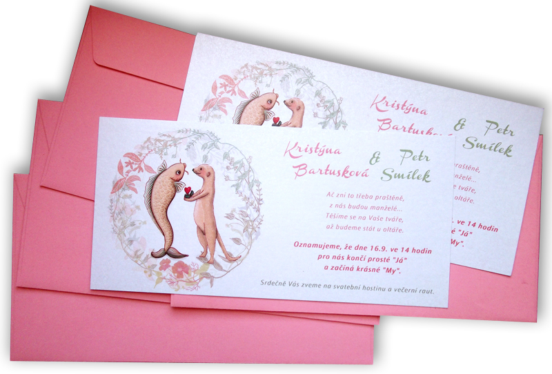 wedding inv + envelopes