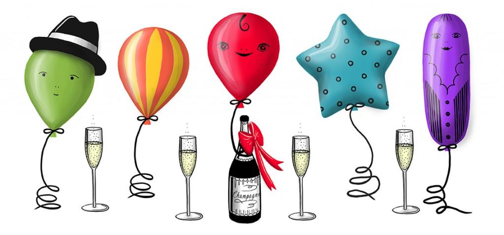 happy baloons celebration