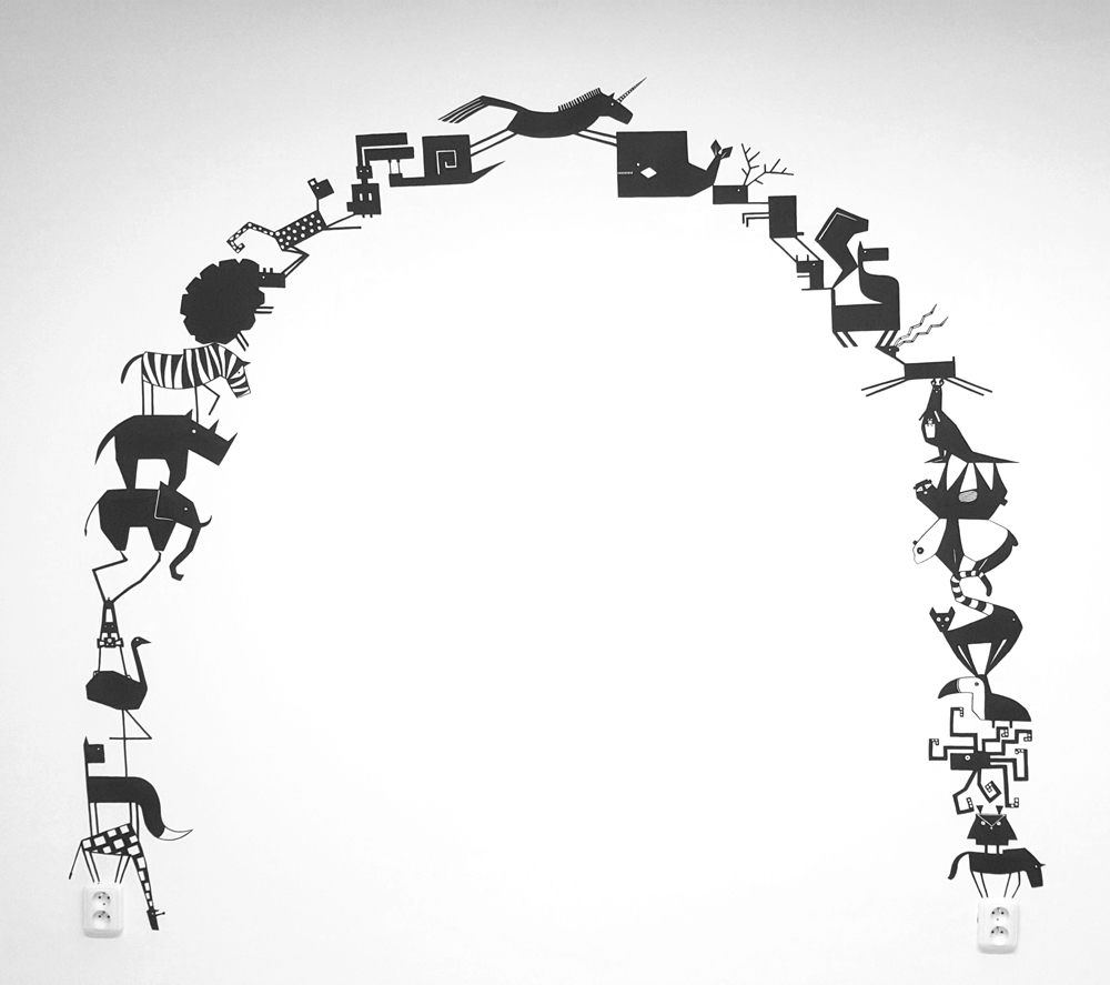 wallpainting_gateway from animals