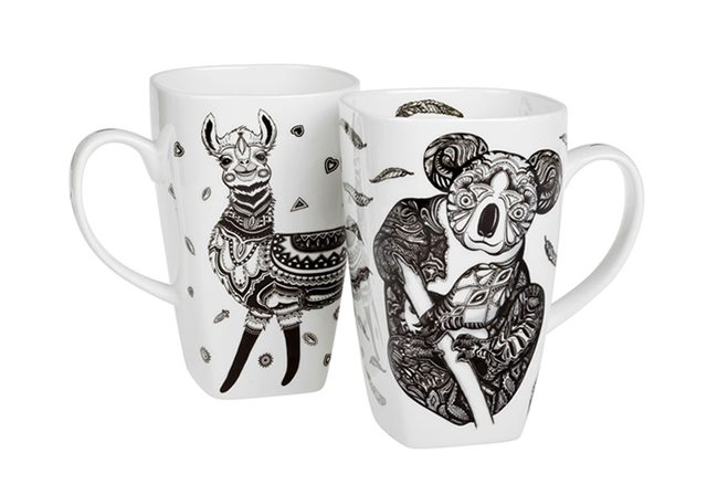 CUP DESIGN – ornament animals