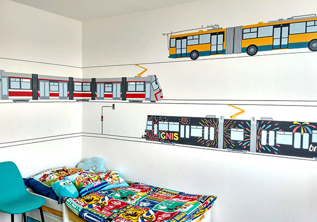 Trams and trolley WALL PAINTING