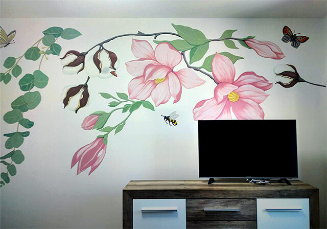Magnolia WALL PAINTING