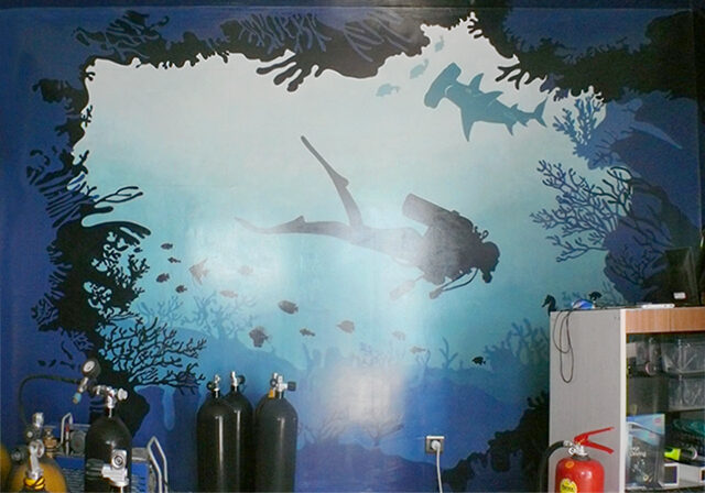 Diving Club WALL PAINTING